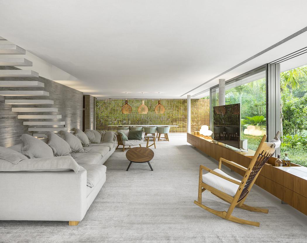 Picture Of minimalist concrete casa branca in the tropics  7