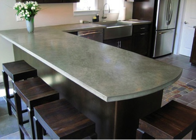 Concrete Countertops : 39 Minimalist Concrete Kitchen Countertop Ideas DigsDigs