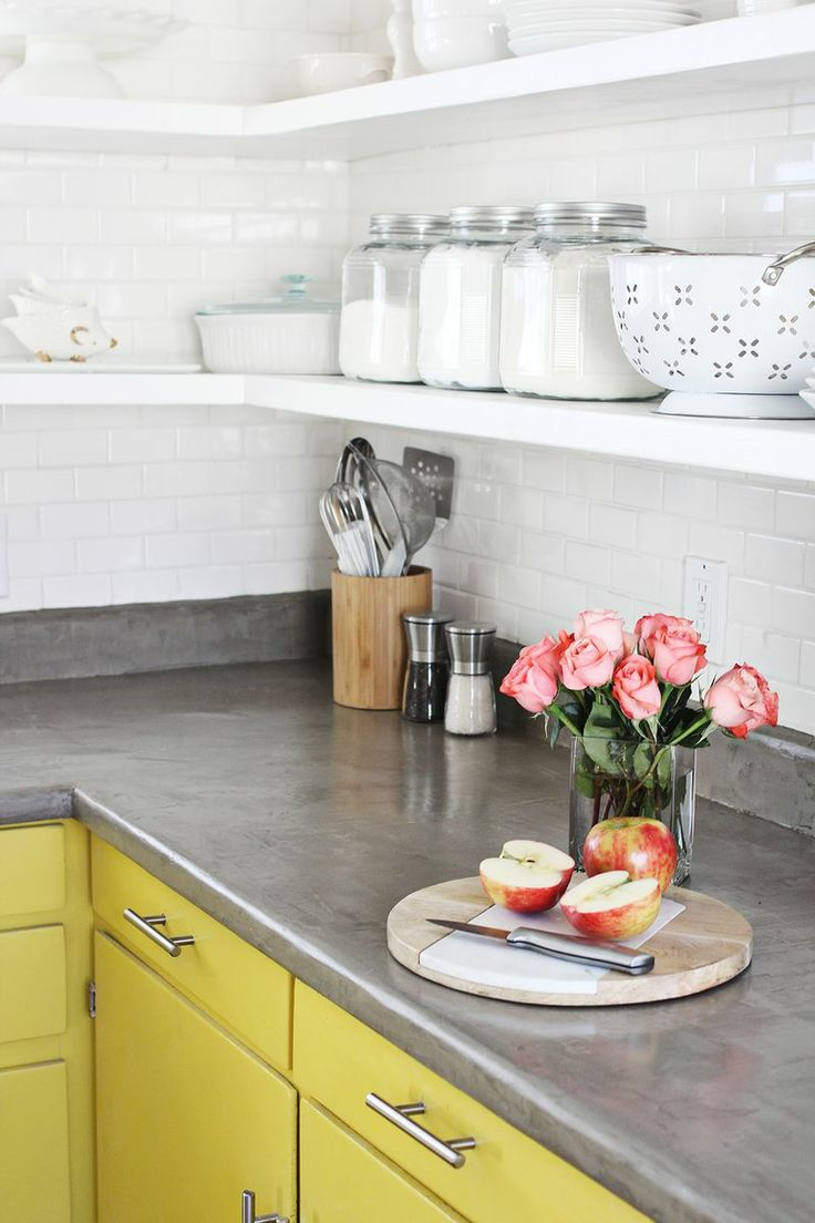 Minimalist Concrete Kitchen Countertops