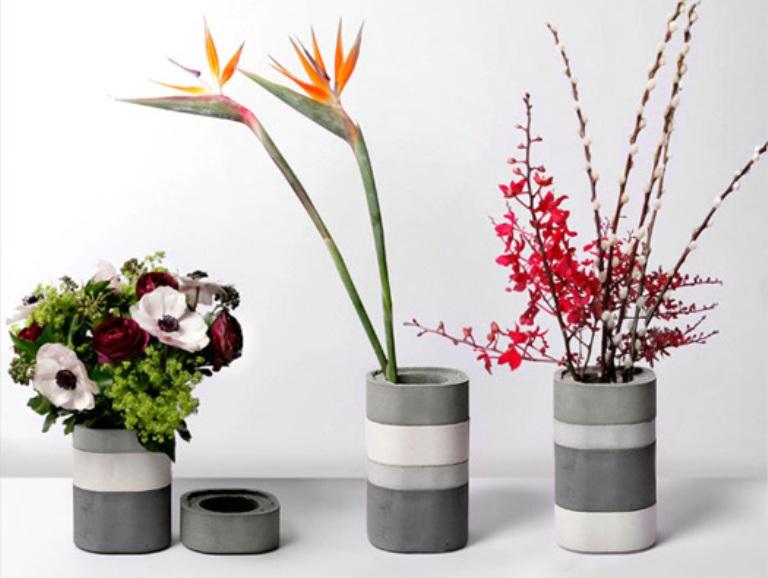 Minimalist Concrete Modular Vases