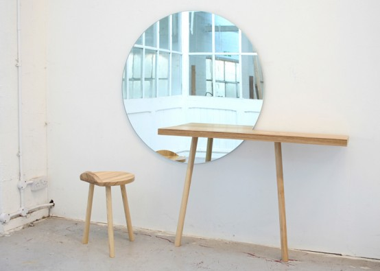 Minimalist Dressing Table Pf European Ash