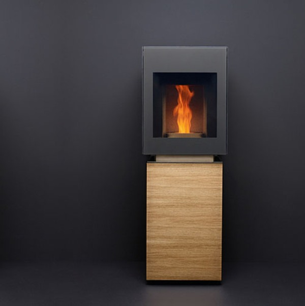 Minimalist Eco-Friendly Pellet Stove by Gabbaan