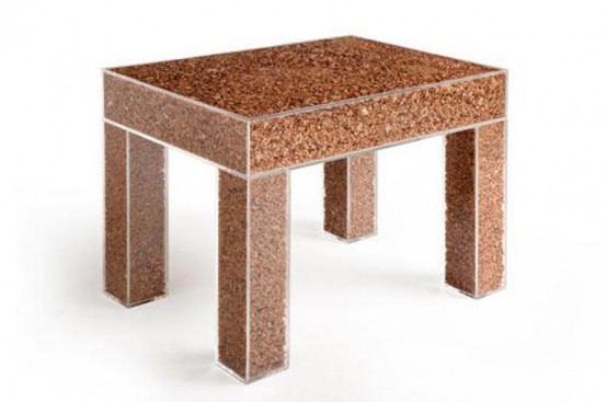 Minimalist Eco Friendly Table Of Wood Scraps