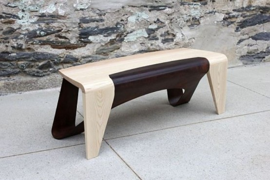Minimalist And Unusual Furniture Of Various Types Of Wood
