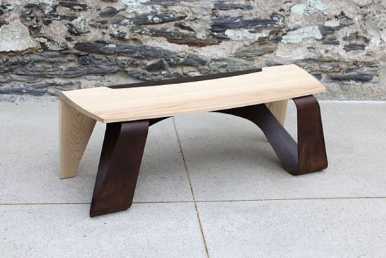 Minimalist Furniture Collection Of Various Types Of Wood