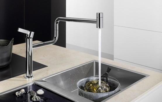 Minimalist Geometric Pivot Faucet By Dornbracht