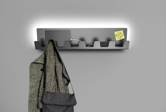 Minimalist Hanna Hanger With Ambient Light And A Charger