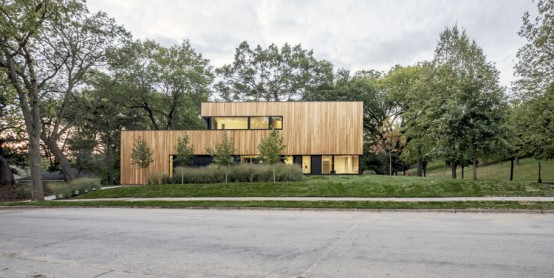 Minimalist Home With Oak Surfaced Interior On A Tricky Site