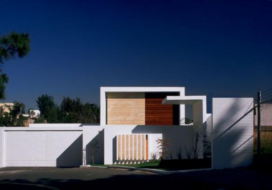 Minimalist House Divided On Two Layers Cube House By