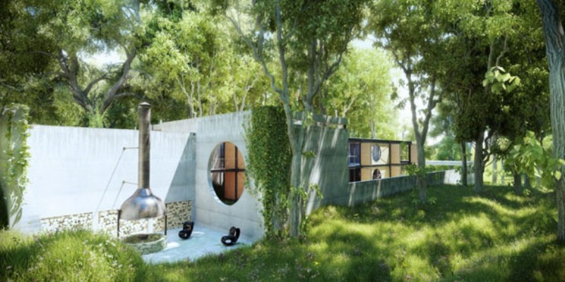 Minimalist house in the heart of a forest digsdigs for Minimalist white house by koichi kimura