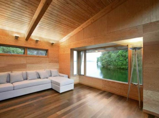 Minimalist House Of Natural Wood