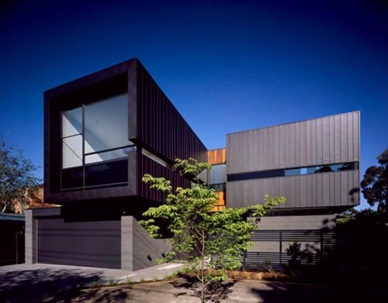 Minimalist House With Dark Exterior