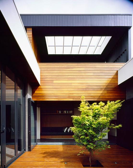 Minimalist Exterior House Design Ideas: Minimalist House With Dark Exterior