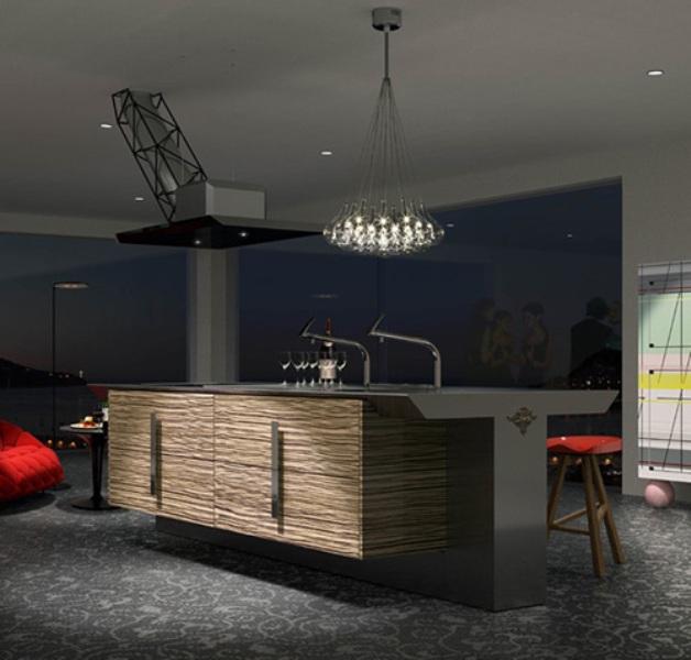 Minimalist Kitchen In Dark Grey