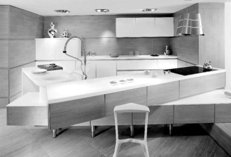 Minimalist Kitchen With Off Set Counter Tops Digsdigs