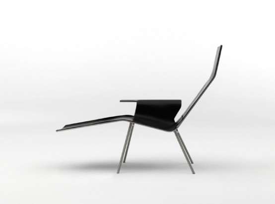 Minimalist Leather Lounge Chair