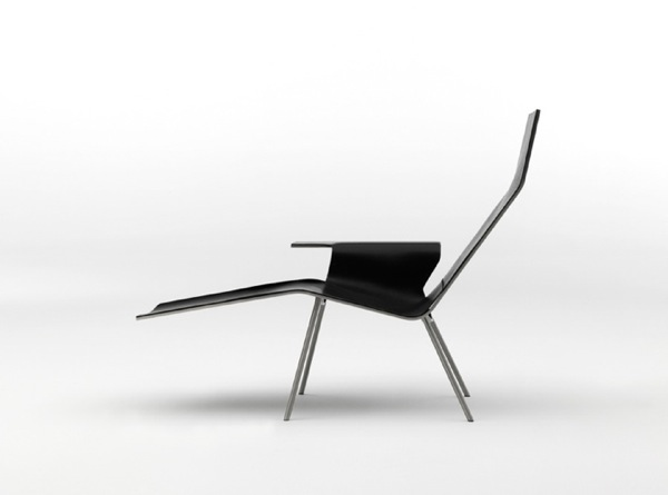 Minimalist Leather Lounge Chair
