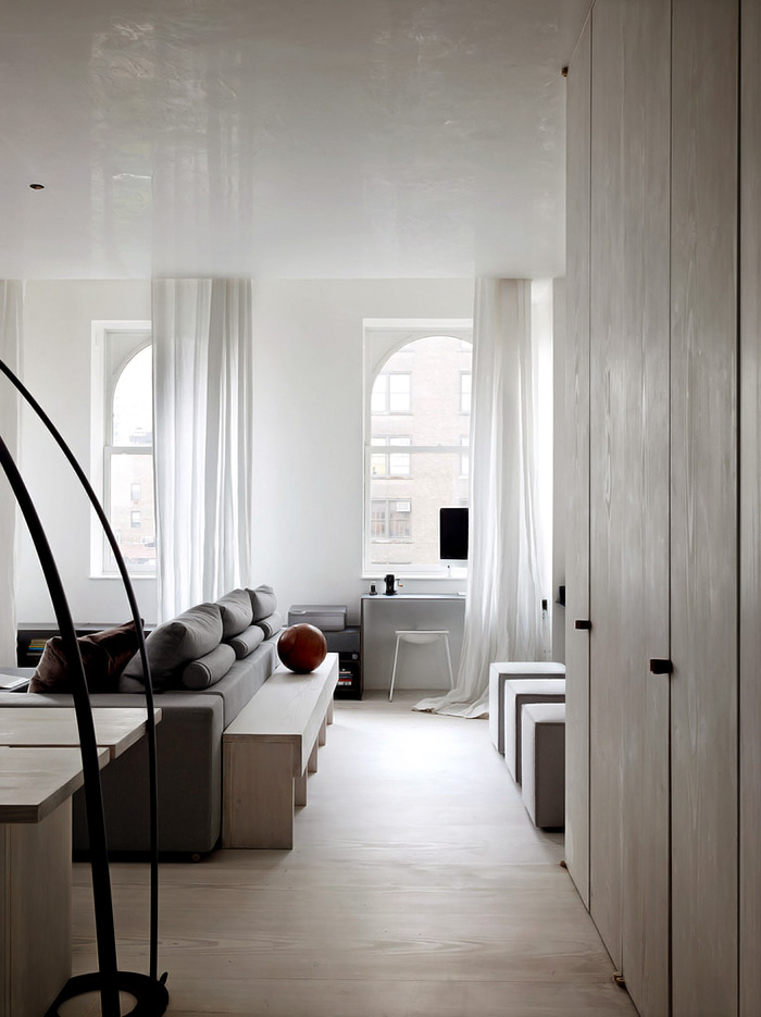 Minimalist light wood loft with smart solutions digsdigs for Minimalist color scheme interior design