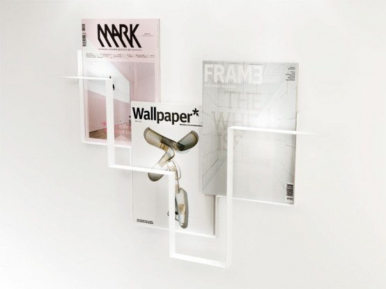 Minimalist Magazine Holder For Walls