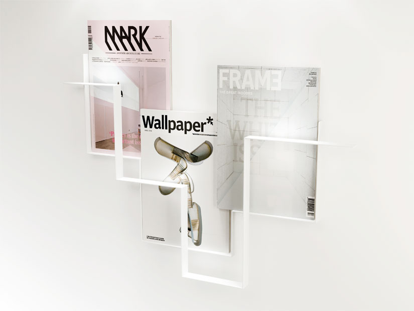 Minimalist Magazine Holder for Walls Made of Metal – Guidelines by Frederik Roije