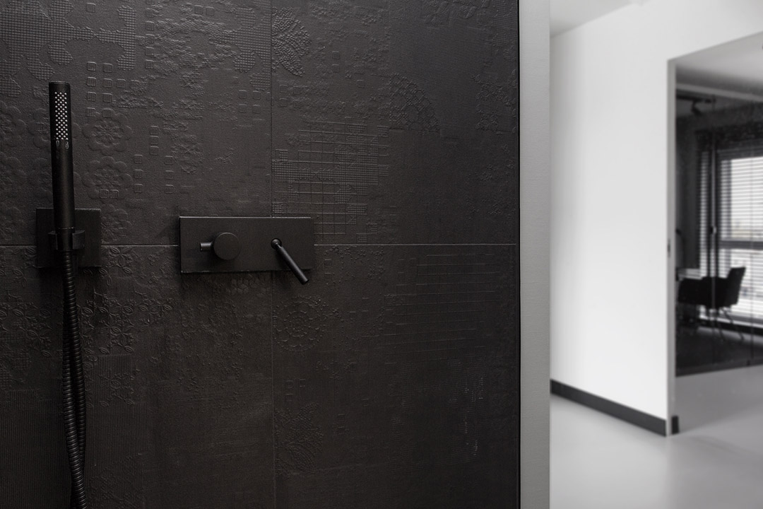 Minimalist Masculine Apartment Design With Neon Details