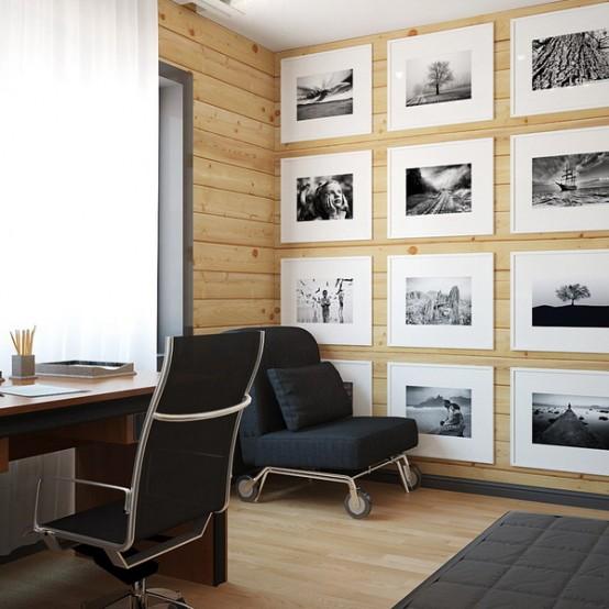 Masculine houses archives digsdigs - Elegant minimalist loft design in masculine vibe wooden decoration ...