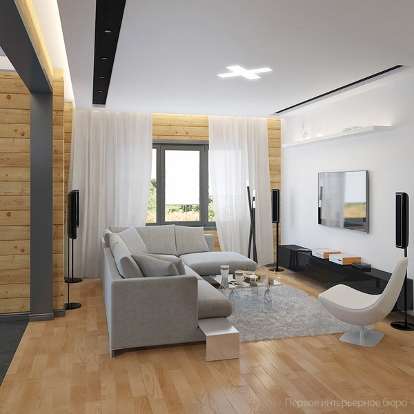 Minimalist masculine cottage with light wood touches for Minimalist cottage style