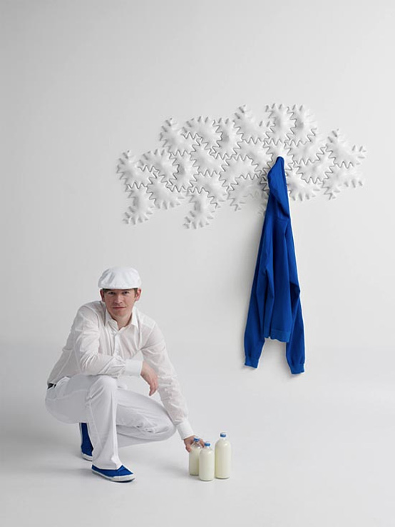 Minimalist Ceramic Coat Rack That Reminds A Puzzle