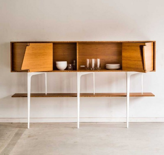 Minimalist Neus Sideboard With Asymmetrical Doors