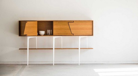 Minimalist Neus Sideboard With Symmetrical Doors