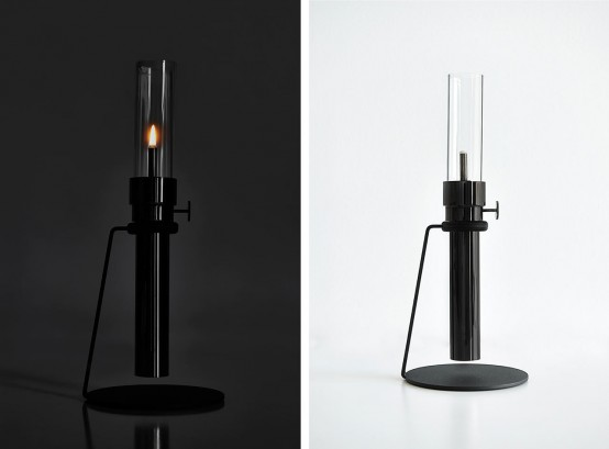 Minimalist Oil Lamp Renovation In Black Chrome