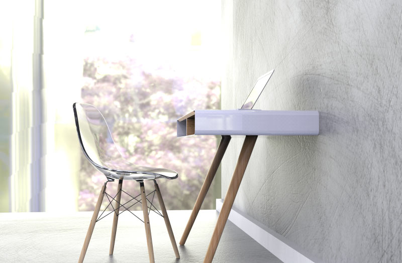 Picture Of minimalist pacco desk with extra storage space  1