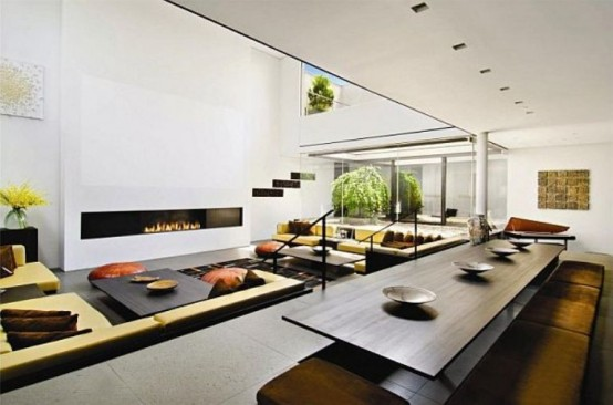 Minimalist Penthouse With Double Height Living Room