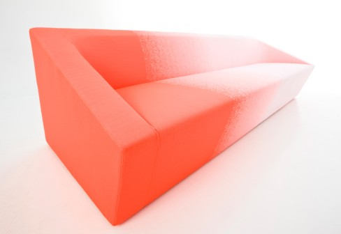Minimalist Pink Sofa That Seems To Fade Out