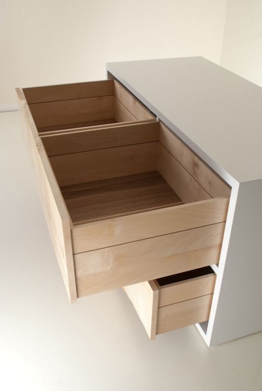 Minimalist Raw Sycamore Chest Of Drawers