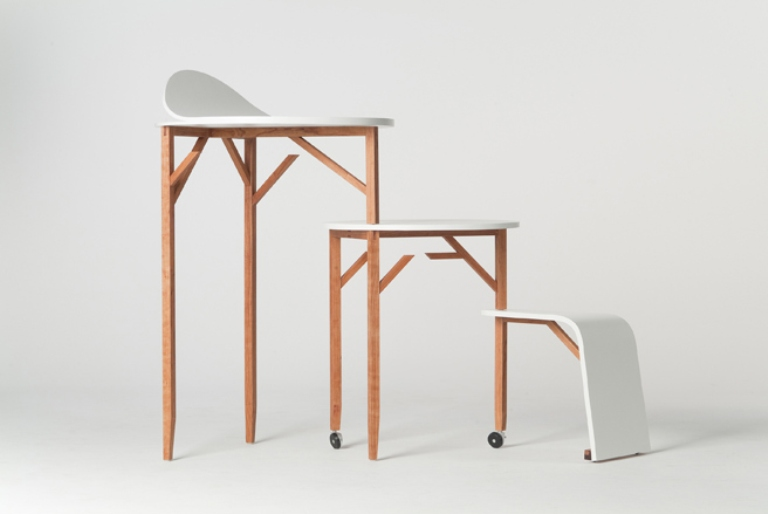 Minimalist Set Of Furniture With A Bunch Of Functions For Your Working Place