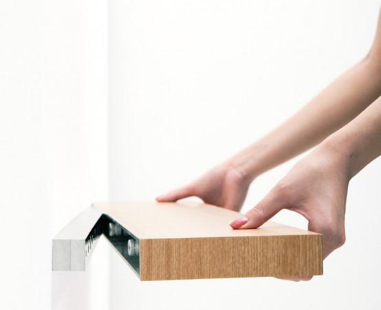 Minimalist Shelf With A Small Hidden Drawer