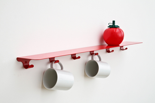 Minimalist Shelf With Hooks