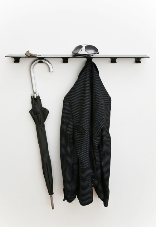 Minimalist Storage Shelf With Hooks For Kitchen Bathroom