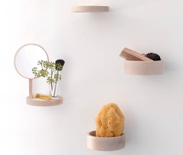 Minimalist Shelving System Of Natural Beech