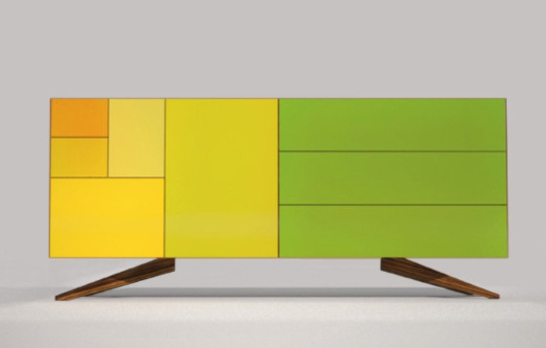 Minimalist Sideboard In Bright Colors Of Summer
