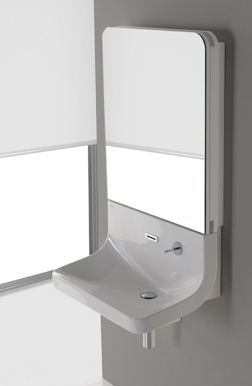 Minimalist Sleek Mirror Combo For Your Bathroom – Blend by Sanindusa
