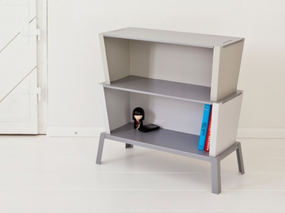 Thoughtful Minimalist Stackable Shelf System