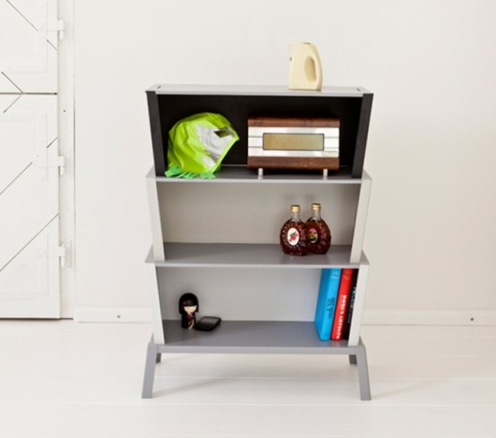 Minimalist Stackable Shelf System