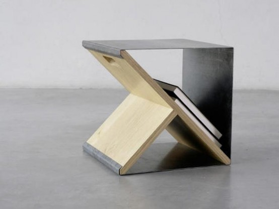 Minimalist Stool And Storage Unit In One