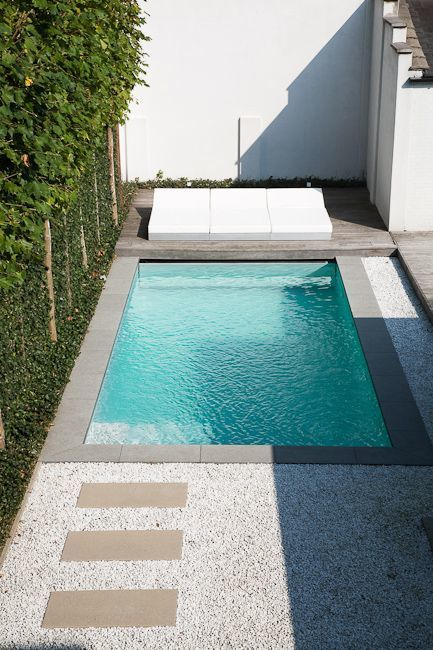 minimalist-styled plunge outdoor swimming pool
