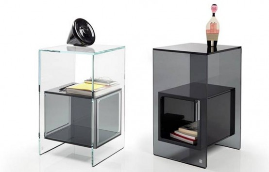 Minimalist Transparent Glass Side Table