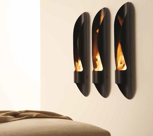 Minimalist Tube Outdoor Bioethanol Fireplace