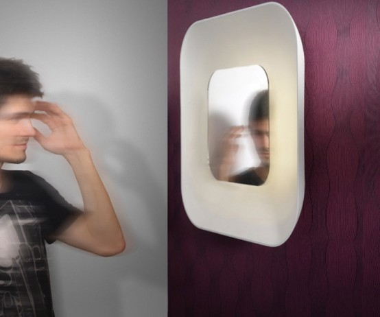 Minimalist Wall Lamp With A Mirror