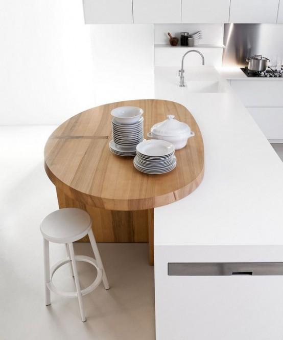 Minimalist White Kitchen For Small Spaces